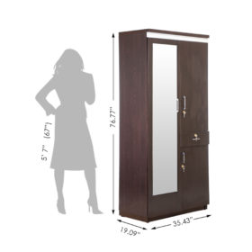 Gaja Furniture_ Wardrobe_ GA-CWR M1-WE_inches