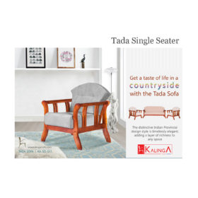 Kalinga_Wooden Sofa_KA-SO-511_Single Seater